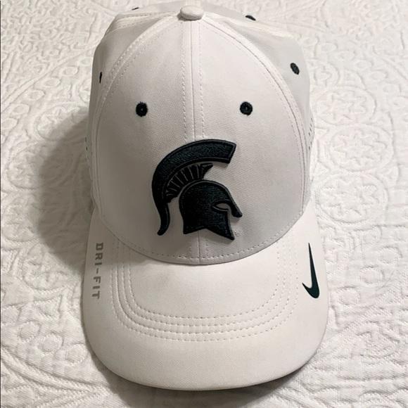 Nike White Michigan State Sport Hat